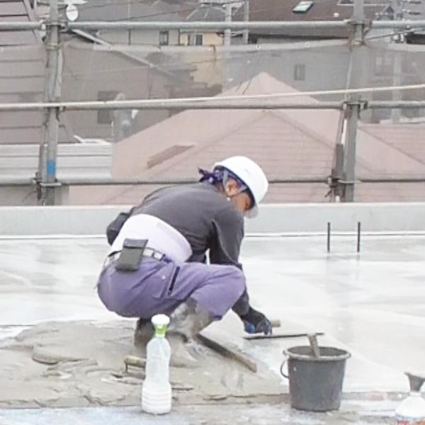 屋上水はけ施工